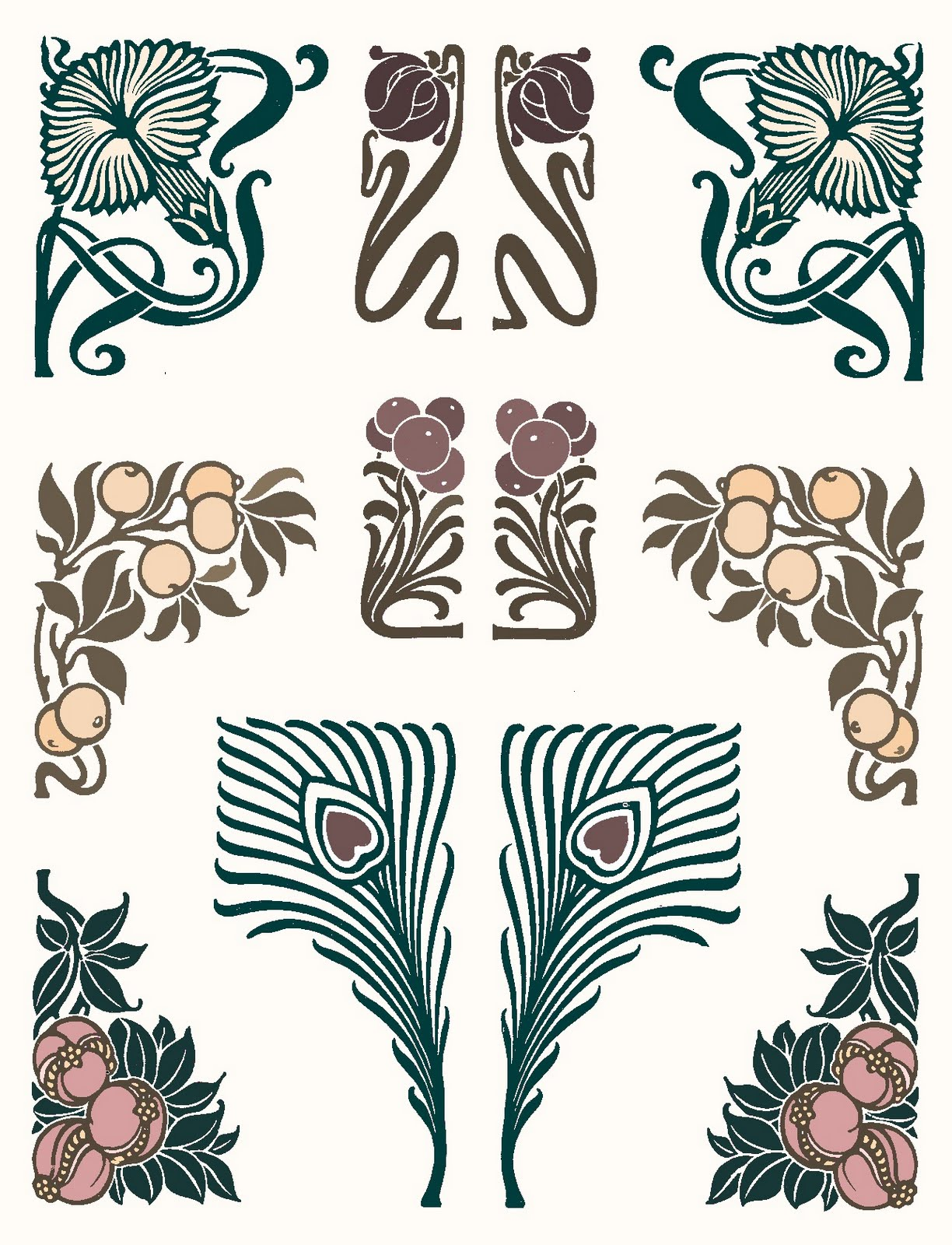 Art deco tattoo on pinterest art nouveau tattoo nouveau tattoo and art - Art nouveau art deco ...