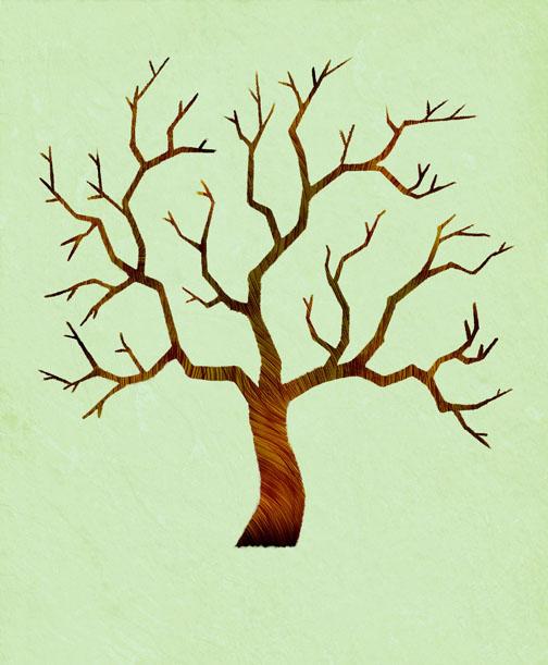 sketchy sketches wedding tree