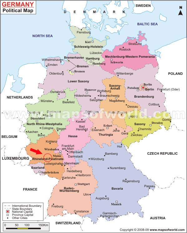 Germany Map Kaiserslautern - Germany map konstanz