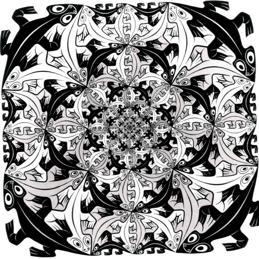 Unseen art scene m c escher designer artist for Escher metamorfosi