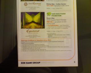 Hotel Equatorial Cameron Highlands Ramadhan Holiday Promotion via EON Credit Card