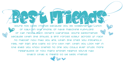 Best Friend Quotes, Best Friend Myspace Quotes