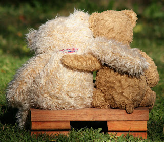 teddy friends hugs card
