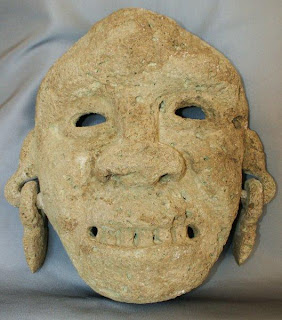 San Augustin volcanic stone burial mask