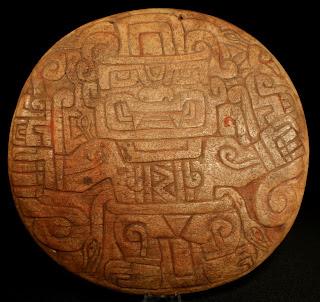 Chavin llama bone shamanic pectoral