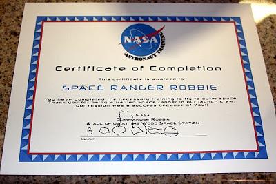 nasa employee certificate - photo #38