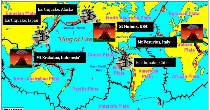 Volcanoes and Earthquakes: World Map