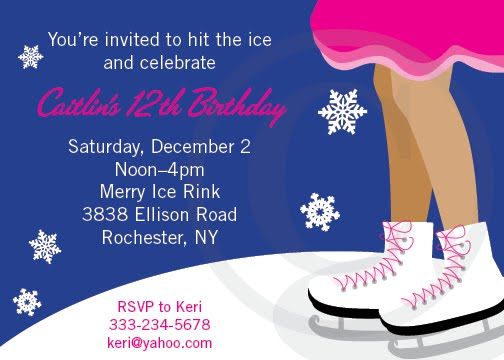 Property of Kelly Ice skating Party Invitation