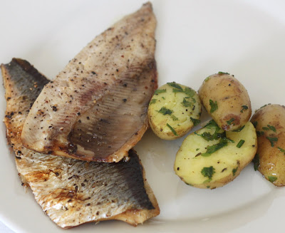 My Kitchen Antics: Grilled Herring with Roasted Herb Potatoes