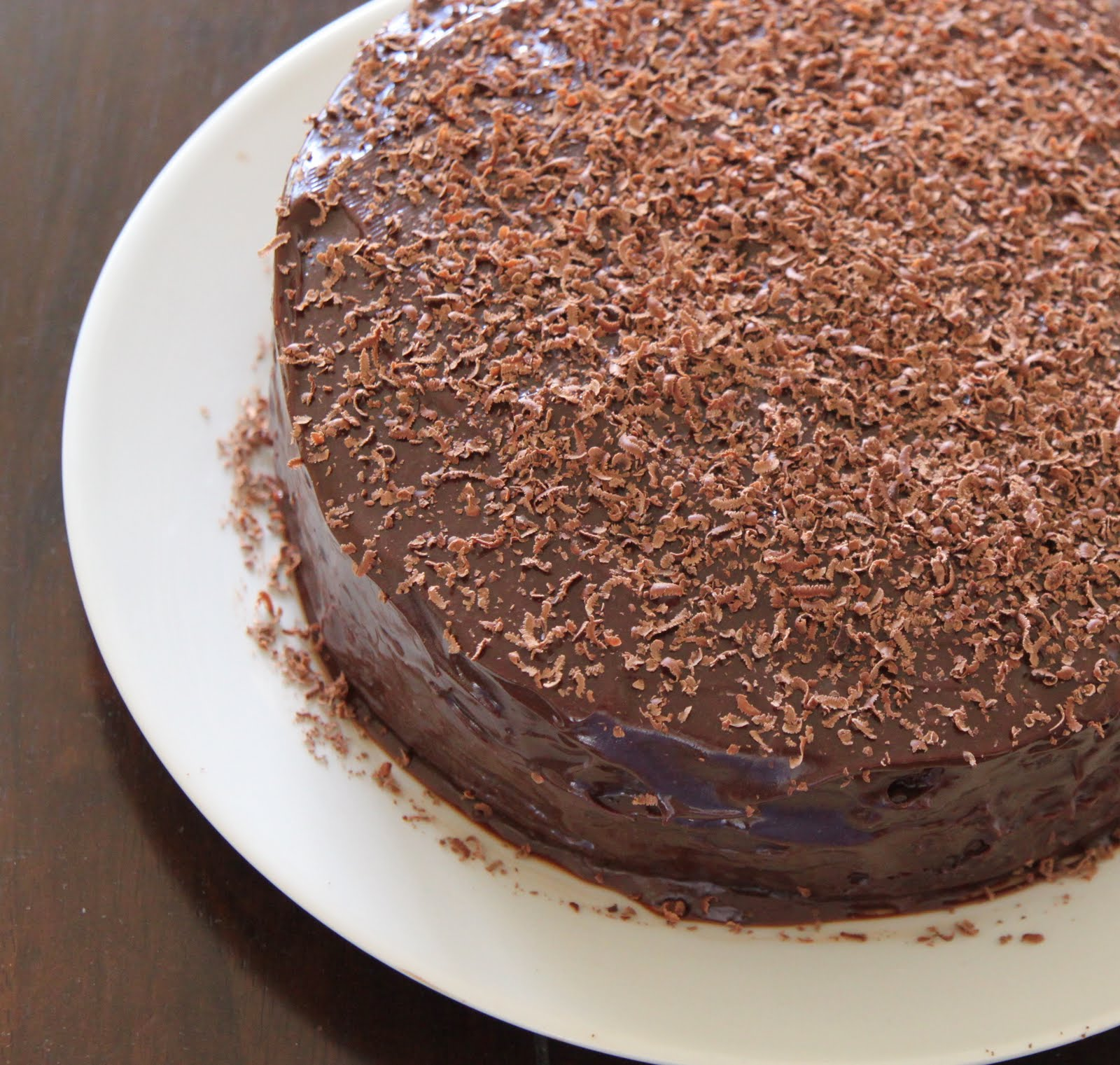 My Kitchen Antics: Double layer chocolate cake filled and frosted with ...