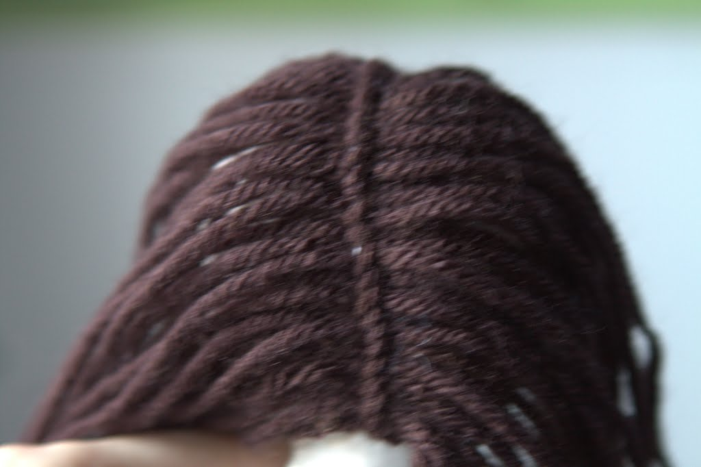how to make waldorf doll hair