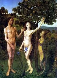 Adan y Eva con una Reptiliana