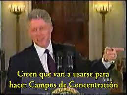 Bill Clinton (Campos del Fema en USA)