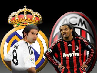 Hasil Pertandingan Liga Champion Real Madrid vs AC Milan