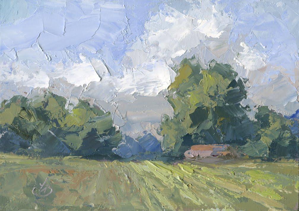 Images Of Palette Knife Barns Landscape Paintings