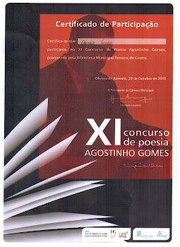 XI Concurso de Poesia AGOSTINHO GOMES / PORTUGAL