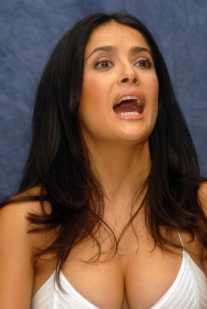 salma hayek teresa pictures. salma hayek breastfeeding an
