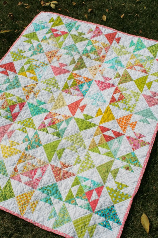 Kissing Fish Baby Quilt – Freshly Pieced