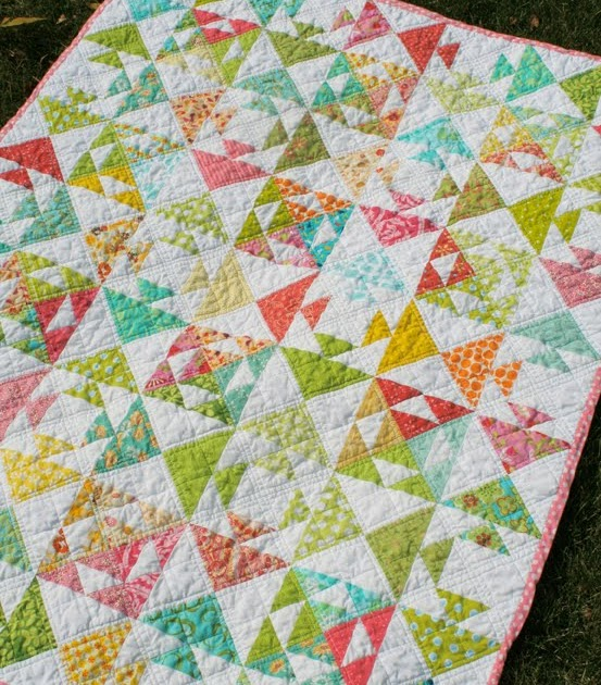 Freshly Pieced Quot Kissing Fish Quot Baby Quilt Free Pattern