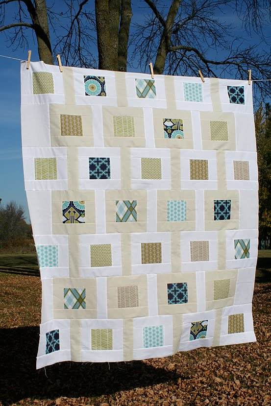 Modern Meadow Baby Quilt – Freshly Pieced
