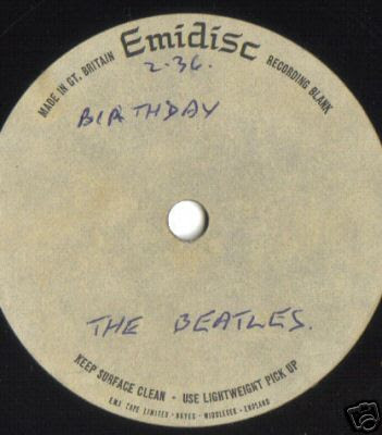 birthday beatles  song