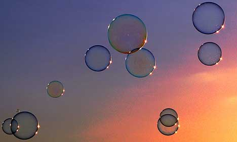 Interference soap bubble