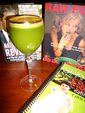 Wheat Grass Coctail & favorite books