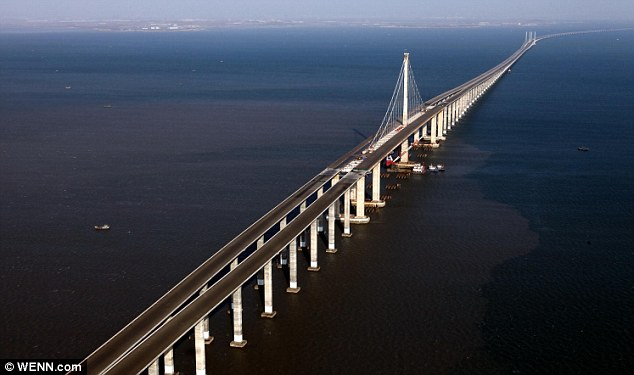 The Danyang–Kunshan Grand Bridge is the longest bridge in the world.
