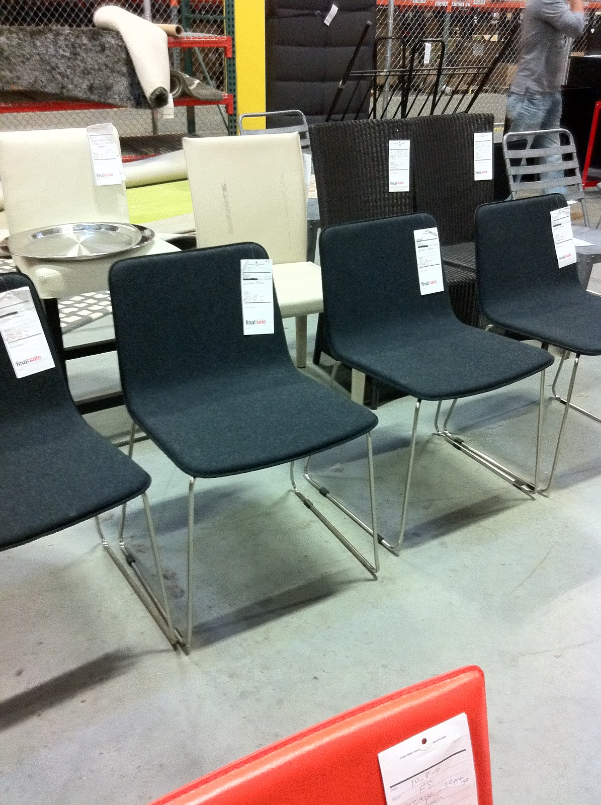 If i needed these chairs or had a client who needed them i would have snatched them up there were 4 of them at about 40 each they are called the jasper