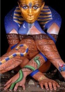 egyptian body paint art