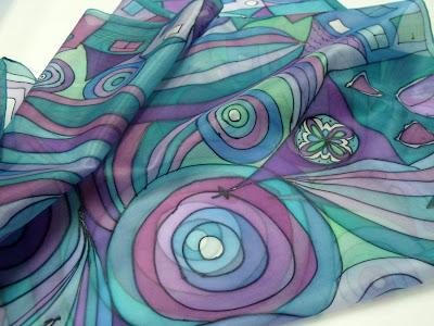 hundertwasser/freywille inspiráció - modern selyemkendő ajándékba