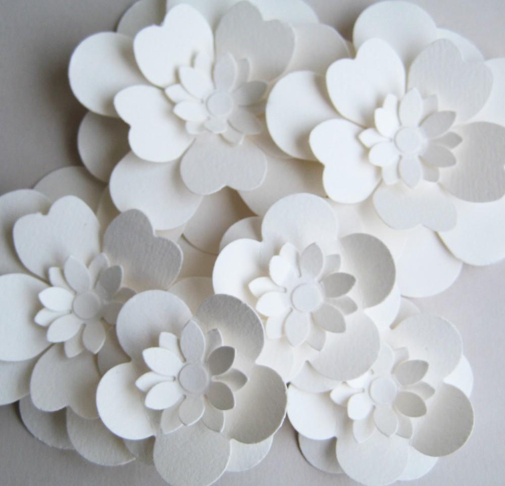 Черно белые цветы из бумаги своими руками