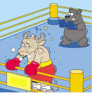 Bull Bear Boxing Match