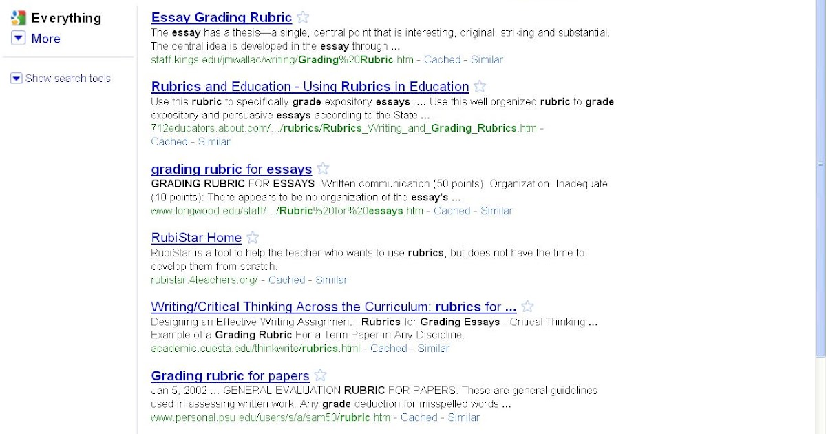research papers grading criterion Using rubrics to grade, assess, and improve student learning  such as essays, research reports, portfolios, works of art, recitals, oral  additional criteria .