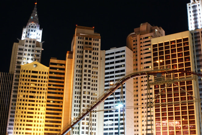 Бързото влакче на хотела New York New York във Вегас