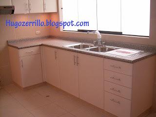 Muebles de melamine galeria cocinas for Mueble de cocina con pileta