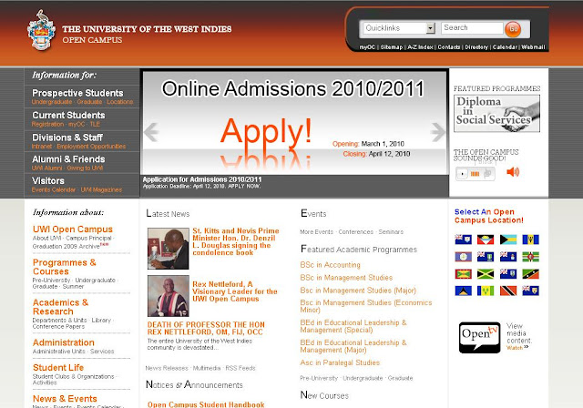 www.open.uwi.edu - UWI Open Campus Login for Students - The University of the West Indies