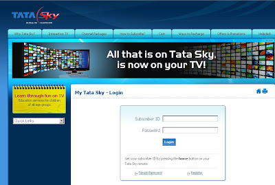 MyTataSky.com Login to my tata sky account