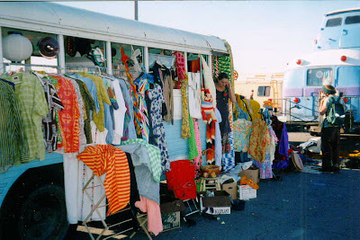 vintage clothing hippie bus