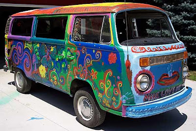 artful hippie bus