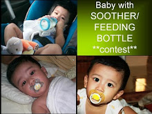 Baby with soother/feeding bottle contest