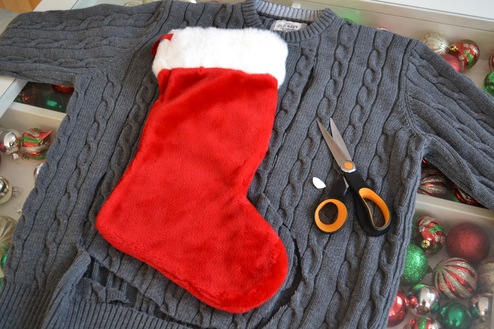 recycled sweater stockings a tutorial - Sweater Christmas Stockings