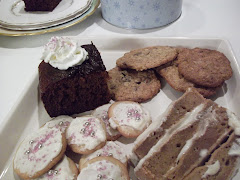Hot Gingerbread, Brown Sugar Cookies, Oatmeal Chocolate Chip and Applesauce Spice Cake
