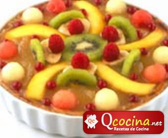 Tarta de frutas al microondas