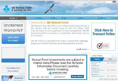 SBI Mutual Fund : Login to Sbimf.com for NAV and Statement