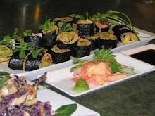 Veggi Nori Rolls & Creamy Ginger Cabbage Salad