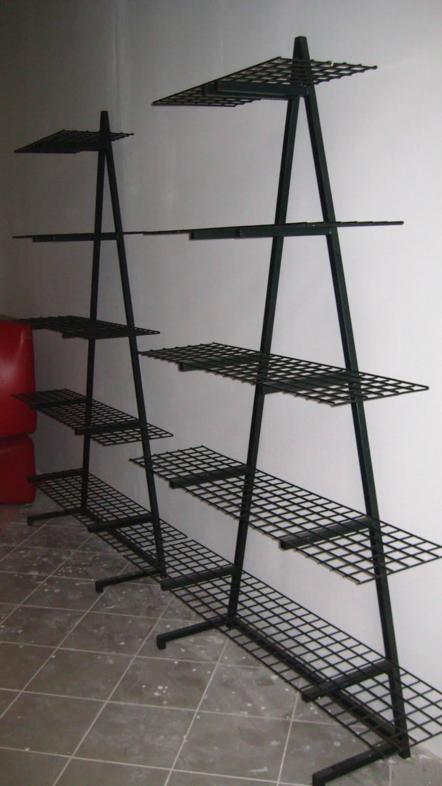 Mobili coppia di librerie in ferro - Mobili in ferro ...