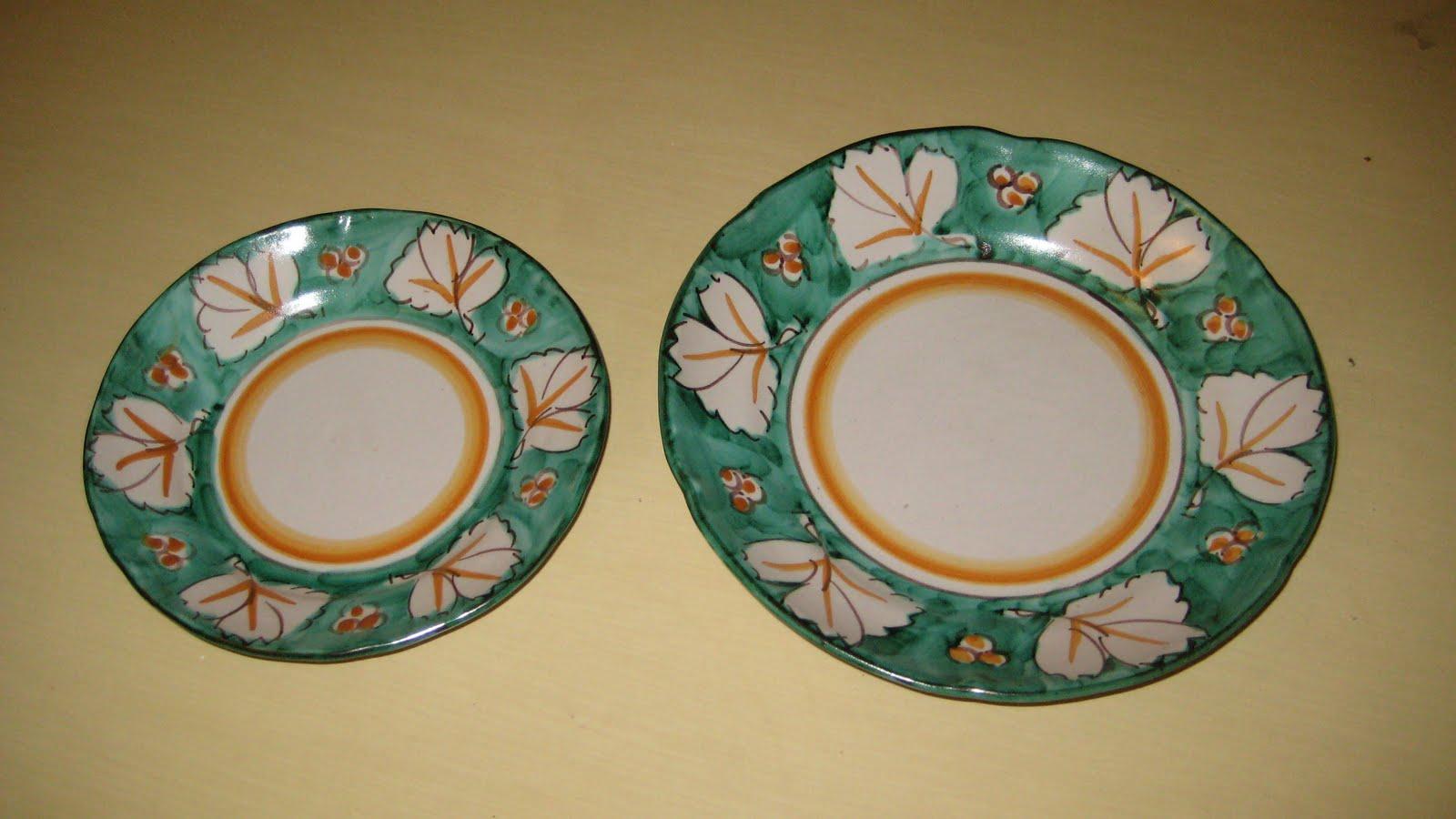 Vetri e Ceramiche: Servizio piatti ceramica Vietri