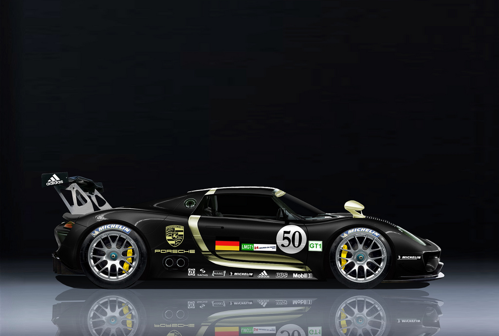 fun and entertainment porsche 918 rsr spyder hybrid race car unveiled. Black Bedroom Furniture Sets. Home Design Ideas