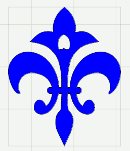 This fleur-de-lis mesh is made